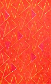 "Flickering Jagged Angles, © BIll Brookover, 2012. Woodcut, 7 7/8"" x 4 7/8""."